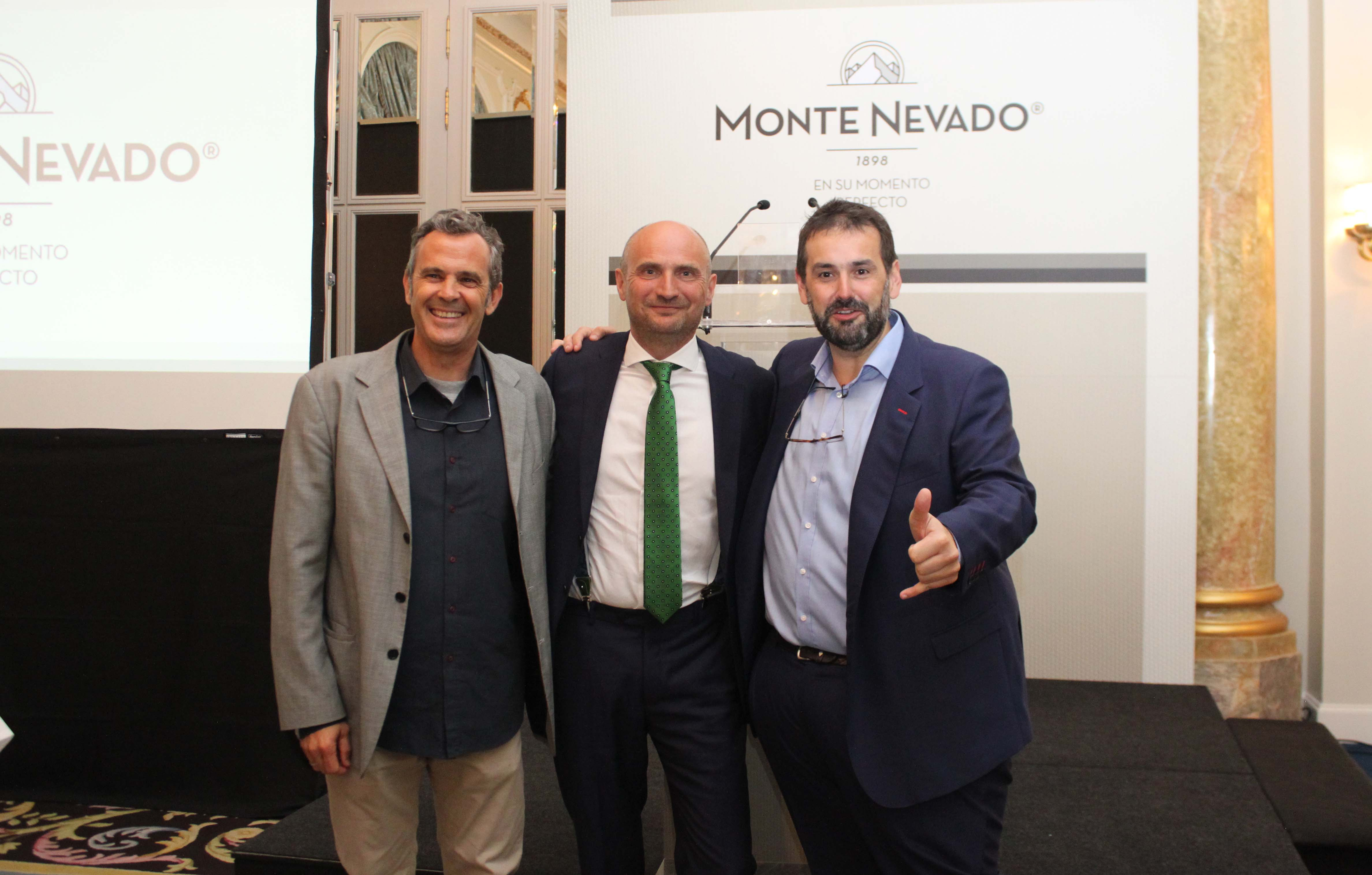 Alfonso Guerrero, Juan Vicente Olmos y David de Jorge en el Hotel Ritz de Madrid.