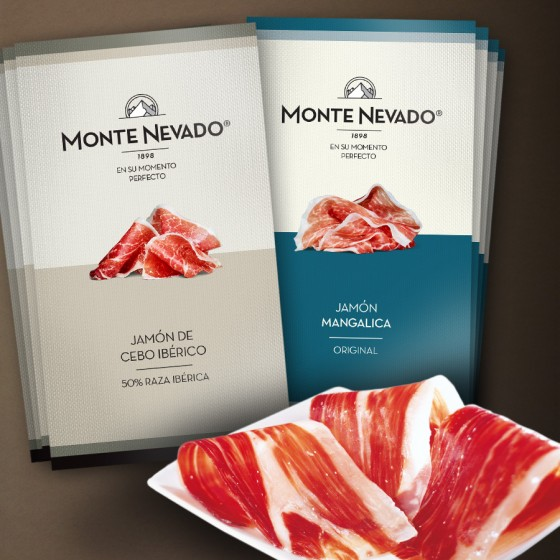 Pack Iberico de cebo ham 50% Iberico breed presliced