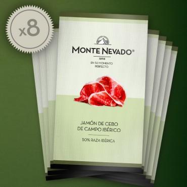 Estuche jamón de cebo de campo ibérico 50% Raza Ibérica - Monte Nevado