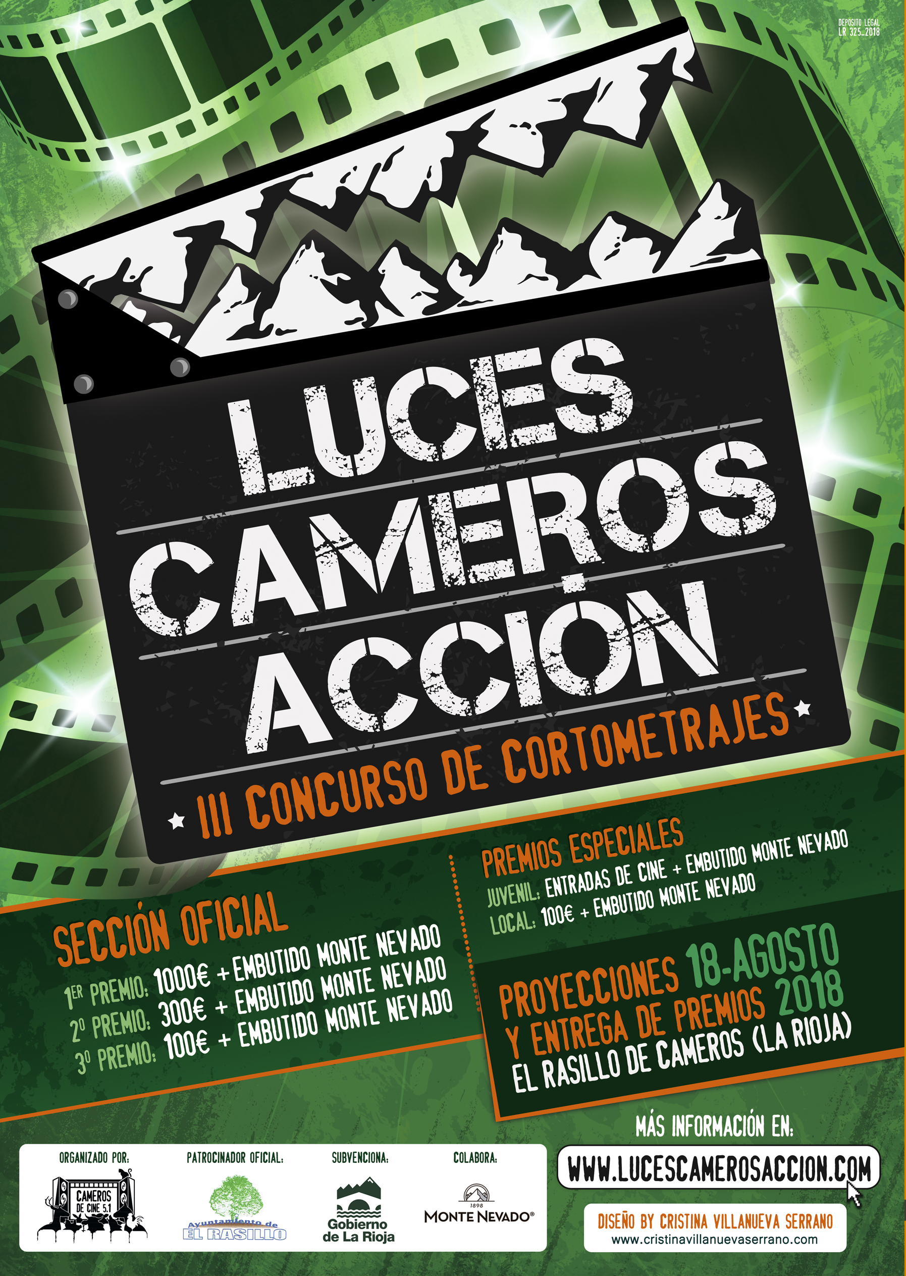 Cartel Luces Cameros y Acción
