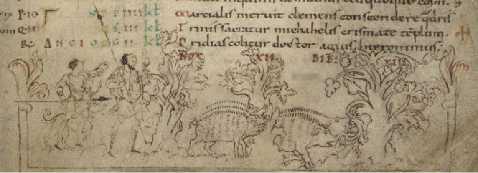 Calendario Anglosajón, Siglo XII